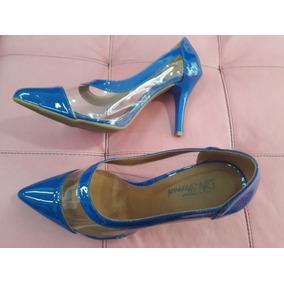 766bbcb6a Sapato Fechado Scarpin - Sapatos Azul no Mercado Livre Brasil