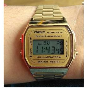 56ad0cdd076 Relogio Casio A158wa 1df Dourado - Relógios De Pulso no Mercado ...