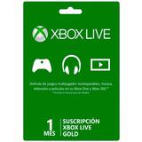 Xbox Live Gold Acceso 1 Mes