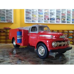 Ford F-6 Fuel Tanker 1951 Todo De Ferro Raro Modelo 1:34