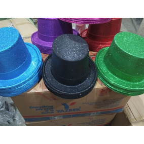 20 Sombrero Diamantina Copa Color Brillantina Niño Batucada 5f1a2d309e3