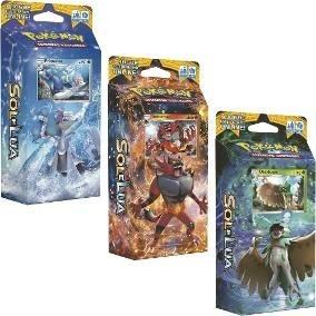 3x Decks Pokémon Sol E Lua- Decidueye, Primarina, Incineroar