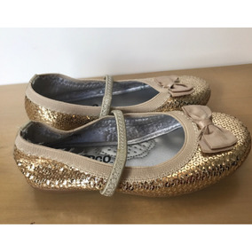 f22bb7c50a Sapato De Menina Dourado Tam - Sapatos no Mercado Livre Brasil