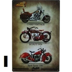 3 Placas Vintage Cartaz Harley Davidson Moda Retrô Promoção