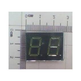 Displays Dois Digitos Verde Anodo Comum 3 Por 17,50