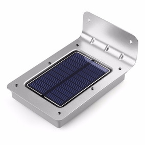 Luminária Solar 16 Led, Com Sensor De Presença
