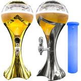 Torre De Chopp Cerveja Gelada Resfriador Iluminado Com Led