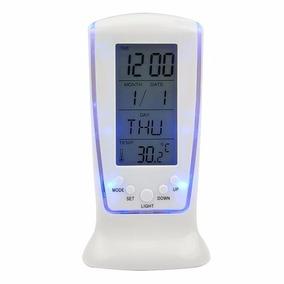 Relógio De Mesa Digital Com Despertador Temperatura Data