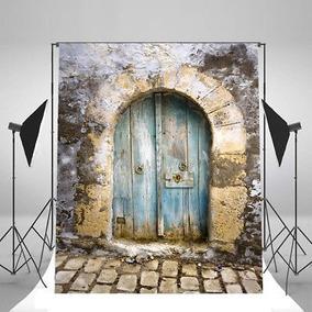5 X 7 Antiguo Puerta De Ladrillo Pared Vinilo Prop...