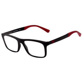 1fe5518ca8a4f Armação Emporio Armani Vermelho Vinho Oculos - Óculos no Mercado ...