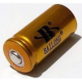 Bateria Recarregável Cr123a Li-ion 16340 3.7v / 4.2v 5800mah