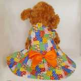 Roupa De Festa Junina Para Cachorro Vestido Colorido a13e8b8ddd6