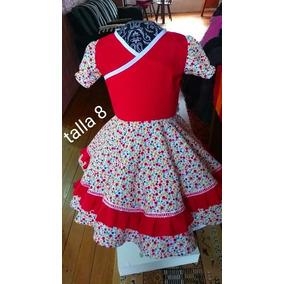Vestido De Cueca (china, Huasa) Talla 8