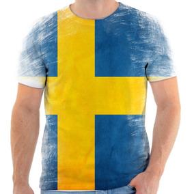 c128f5ff0c Camisa Camiseta Bandeira Da Suecia - Camisetas e Blusas Manga Curta ...