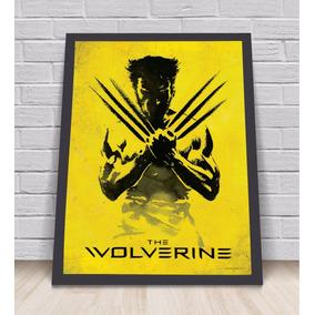 Poster Comic Wolverine Tamanho A3 Com Moldura