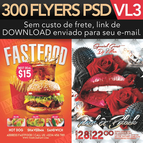 Flyer Psd 300 Flyers Para Adobe Photoshop Premium Vol 3
