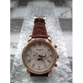 Relógio Patek Philippe Geneve Automátic- Pulseira De Couro