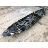 Caiaque Duplo K2 Pro Pesca Fibra Camuflado + Remos + Colete