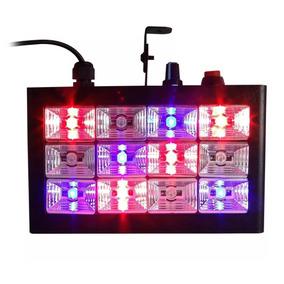 Strobo Rítmico Rgb 12 Leds Iluminação Laser Dj Festa Show