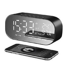 Radio Reloj Despertador Bluetooth Pantalla Led De Espejo