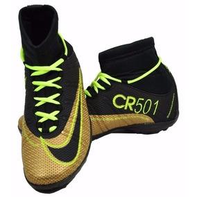 88fb17ac3f Chuteira Cr7 Dourada Futebol Chuteiras - Chuteiras Nike no Mercado ...