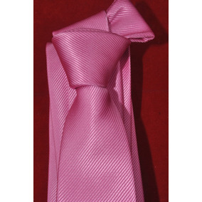 Corbata Italiana Rosa Lisa Marca Idea Seda - Angelo Lista