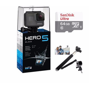 Gopro Hero5 Black Camera Go Pro 5 Tela Lcd +64gb C/10+bastão