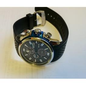 Reloj Citizen Eco Drive Cronometro Azul-negro Correa Caucho