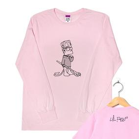 Camisa Manga Longa Rosa Lil Peep Trap Hard Rap Oferta Mes 5b13bde924876