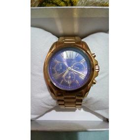 4466e9672a5 Relógio Michael Kors Mk5199 Prata Fundo Azul - Relógios De Pulso no ...