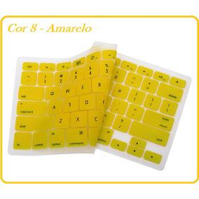 Protetor De Silicone Amarelo Teclado Macbook 13 15 17