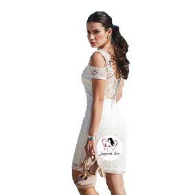 Vestido Encaje Blanco Sexy Boda Civil Moda Coreana Mod.233