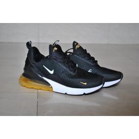 quality design 3dccd 1d817 Kp3 Zapatos Caballeros Nike Air Max 270 Negro Blanco Dorado