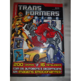 Álbum De Figurinhas Transformers Prime Completo