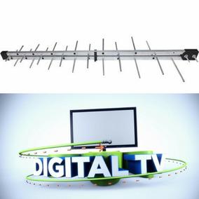 Antena Externa Digital Uhf Hdtv Potente Auxilia O Conversor