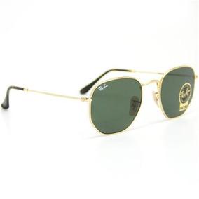 e7d331b1c36d9 Óculos Ray Ban Rb3548 Hexagonal Dourado Verdes G15 Original - Óculos ...