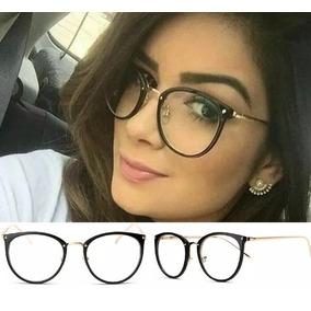 Armacao Oculos De Grau Feminino Redondo Geek - Óculos no Mercado ... b379015b96