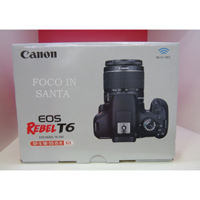 Canon T6 C/18-55 Mm Is Ii/revenda Autorizada /pronto Entrega