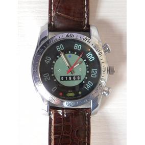 Relógio De Pulso Velocímetro Do Fusca Pulseira Marron