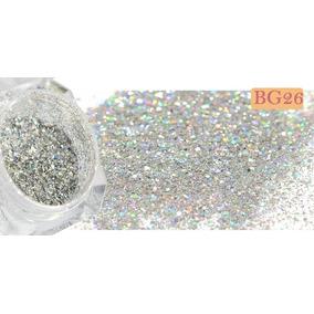 Glitter Para Unha Holográfico Pó Mágico 6 Cores + Brinde