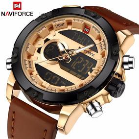 Relógio Naviforce Luxo Couro Frete Grátis!