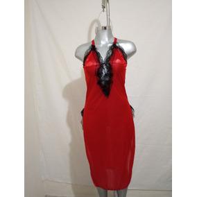 Hermosa Bata Para Dormir, En Color Rojo, Muy Comoda, Talla M