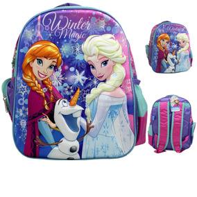 Mochila Escolar Para Niñas Frozen Winter Magic Original Ruz
