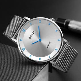 Reloj De Acero Inoxidable Para Hombres Elegante Envió Gratis