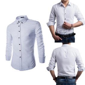 Camisa Casual Slim Fit, Semi Formal Para Hombre