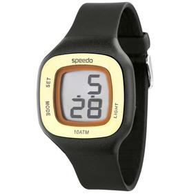 Relógio Feminino Digital Quadrado Preto E Dourado Esportivo