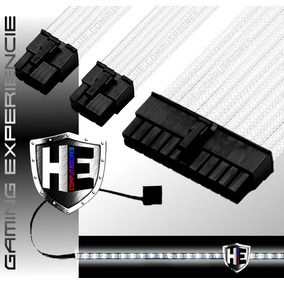 Kit Cabo Sleeve Extensor Gamer 24 Pinos 3x8p Fita Led Prox