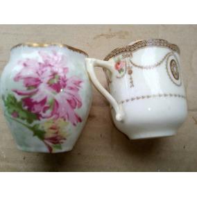 Lote 2 Vasitos Porcelana Inglesa Y Japon Cascara Huevo