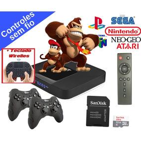 Video Game Retro C/ 2 Controles S/ Fio E Mini Teclado