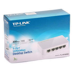 Switch 5 Puertos 10/100mbps Tp-link Modelo Tl-sf1005d
